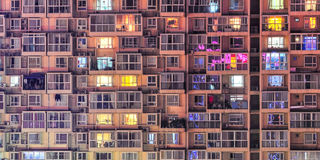 Condominium pattern Stock Image