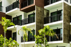 Condominium and swiming pool life of City people in modern town.  Stock Image