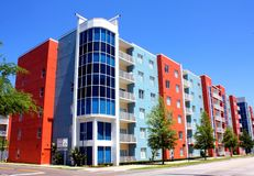 Condominium in Tampa. Condominium building with a blue sky in downtown Tampa, Florida Stock Photography