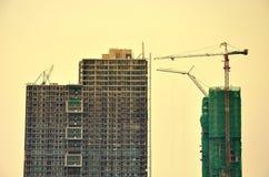 Condominium tower under construction Stock Photos