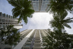 Condominium. Up view of a apartment or condominium royalty free stock photos