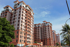 Condominium wawasan square Royalty Free Stock Photography