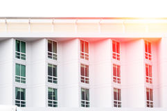 Condominium window glass modern,modern building with large windows. Architectural background of a modern apartments royalty free stock photos
