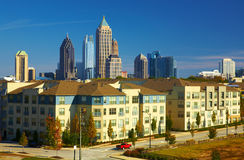Condominiums against the midtown. Atlanta, GA Stock Image