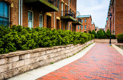 Condominiums along the Waterfront Promenade in Fells Point, Balt Stock Photography