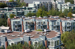 Condominiums & apartments, Vancouver BC Canada. Stock Image