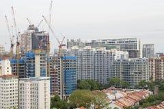 Condominiums Construction with Cranes Stock Photo