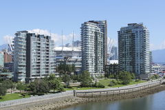 Condominiums in Downtown Vancouver Stock Photo