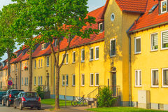 Condominiums in a row Royalty Free Stock Image