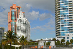 Condominiums, South Pointe Park, South Beach, Florida Stock Photo