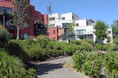 Condominiums in urban areas, Portland Oregon. Royalty Free Stock Image