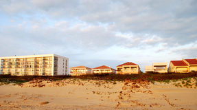 Condominiums and villas along the beach Stock Images