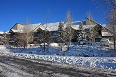 Condominiums in winter Stock Images