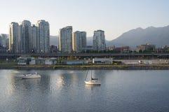 Condominums en Vancouver Imagen de archivo libre de regalías