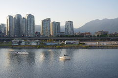 Condominums in Vancouver. Condominums around Falce Creek. British Columbia, Canada Royalty Free Stock Image