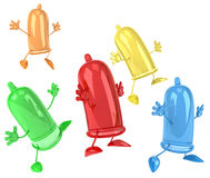 Condoms. Fun Condoms, 3d generated picture Royalty Free Stock Images
