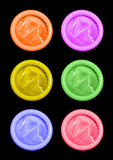 Condoms de couleur Photo stock