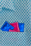 Condoms in his pocket Royalty Free Stock Images