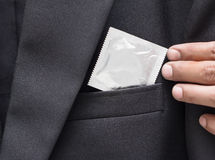 Condoms. In the pocket jacket Stock Images