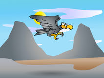 Condor. Vector art on an vulture Andean condor bird on nature background Royalty Free Stock Image
