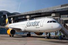 Condor Airbus A321 at the Frankfurt Airport Stock Photography