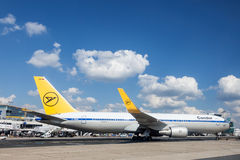 Condor Airline Boeing 767 at the Frankfurt Airport Stock Images