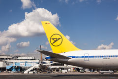 Condor Airline Boeing 767 at the Frankfurt Airport Royalty Free Stock Photos