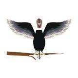 Condor animal bird in branch. Illustration Royalty Free Stock Photo