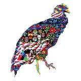 Condor bird with patterns. Bird Condor decorated with Ecuadorian patterns Royalty Free Stock Image