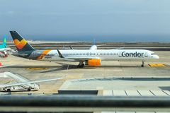 Condor Boeing 757 at Tenerife Stock Images