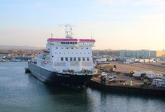 Condor ferry in Portsmouth Harbour stock photography