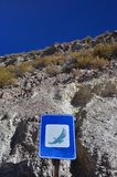 Condor sign in the atacama Royalty Free Stock Images