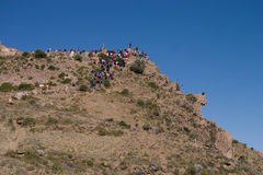 Condor viewpoint in the colca canyon royalty free stock images