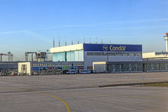 Condor wharft at Rhein Main airport Stock Photos