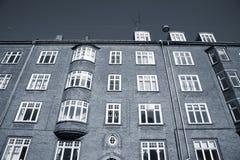 Condos. Old Danish renovated condonominium - duotone Royalty Free Stock Photo