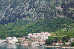 Condos and Homes on Montenegro Coast Royalty Free Stock Photography