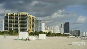 Condos on Miami Beach. Time Lapse of Buildings on Miami Beach stock footage