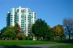 Condos Near The Park Royalty Free Stock Image