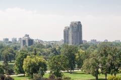 Condos Rising Over Denver Park royalty free stock image