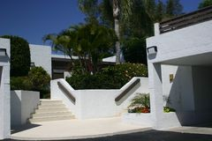 Condos in Tropics (No. 4). White condos in tropics showing steps and Stock Photography