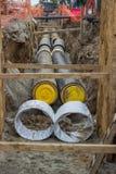 Condotti termici in fossa Fotografia Stock Libera da Diritti