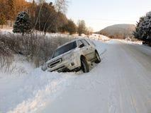 Condtions dangereux de route Photographie stock libre de droits