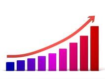 Condução ao sucesso em linha reta Imagem de Stock