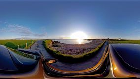 Condução através das ruas de Gales norte em Anglesey - Reino Unido video estoque
