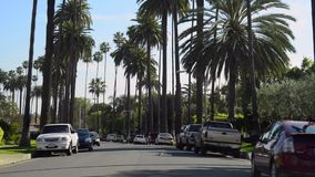 Condução através de Beverly Hills video estoque