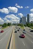 Condução através de Chicago Fotografia de Stock
