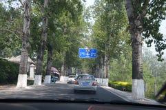 Condução através de China fotografia de stock