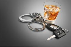 Condução bêbeda Fotografia de Stock