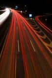 Condução com a noite Imagem de Stock