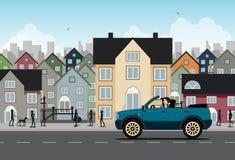 Condução da cidade ilustração stock